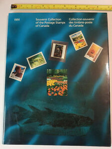 Collection Canada 1991 (timbres/stamps)