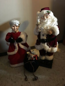 Animated, Musical Decorative Mr. & Mrs. Santa Clause