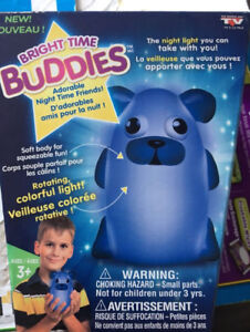 NEW GIFTABLE - kids room Night Light - Bright time Buddies