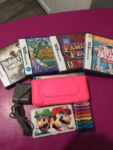 Rose Nintendo DS Lite + Games and Accesories