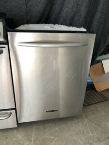"Kitchen aid stainless steel 24"" under counter dishwasher"