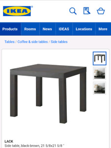 TWO FREE IKEA LACK TABLES