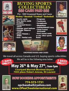 Cash for your sports cards vintage Topps OPC Baseball Hockey