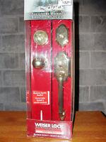 Solid Brass Weiser Lock Front Door Handset