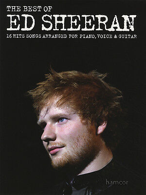 The Best of Ed Sheeran Piano Vocal Guitar Sheet Music Book