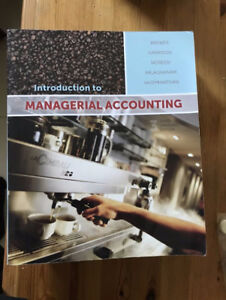 Managerial Accounting - Third Canadian Edition