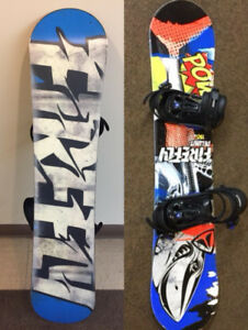Junior snowboard with  bindings, only used one season, like new!