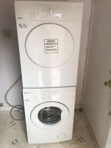 24 inch moffat stackable washer dryer for sale