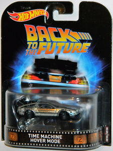 Hot Wheels Retro 1/64 Back To The Future Hover Mode Diecast Car