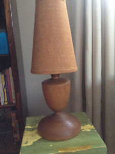 Solid wood table/desk lamp