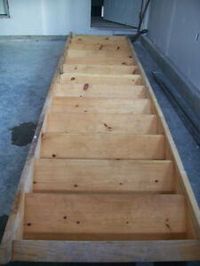 a set of wooden stairs for sale