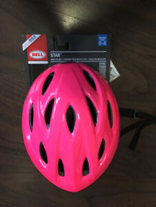 Girls Bell brand helmet size 5-8 in mint condition