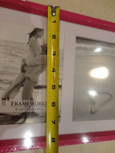 Pink Painted Wood with White Inlay Picture Frame -NEW Kitchener / Waterloo Kitchener Area image 3