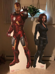 Iron Man Black Widow Avengers LIFESIZE CARDBOARD CUTOUT