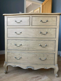 Beautiful NEW Frank Hudson Chic 3+2 Chest of Drawers - Weathered