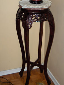 MATCHING MAHOGANY / GLASS TABLES West Island Greater Montréal image 3