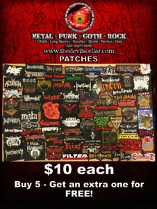 Metal/Punk/Goth/Rock Patches for sale