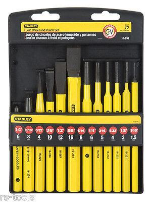 Stanley Werkzeugsatz 12teilig Körner Meißel Splinttreiber Durchschläger 4-18-299