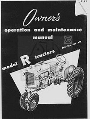 Minneapolis Moline R Rtu Rts Rtn Rte Operator Manual