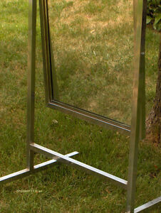Standing Single Panel Floor Mirror with Casters West Island Greater Montréal image 7