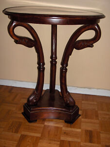 MATCHING MAHOGANY / GLASS TABLES West Island Greater Montréal image 8