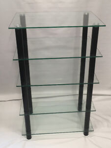 Glass Shelving unit with 5 glass shelves