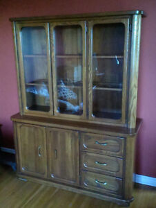 SOLID WOOD DISPLAY CABINET!!