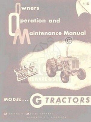 Minneapolis Moline G Gtb Operator Maintenance Manual