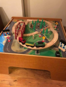 Imagination wooden train table and parts