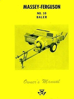 Massey Ferguson Mf No. 10 Baler Operators Manual