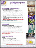 Wedding Decor, Chair Covers, Candy Buffets