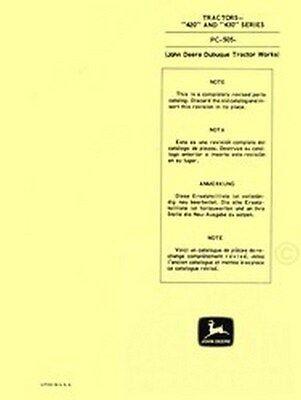 John Deere Jd 420 430 Series Tractors Parts Manual