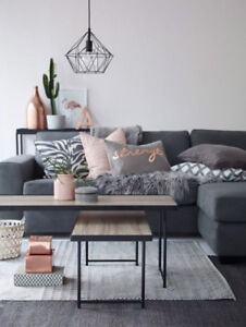 Divan lit sectionnel sofa bed couch gray new storage sectional