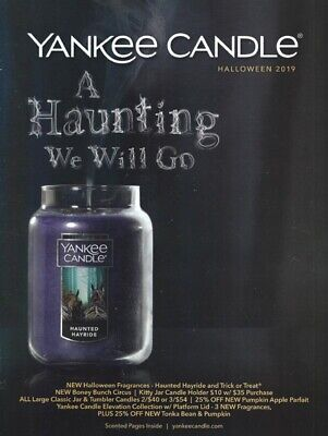 YANKEE CANDLE Catalog Halloween 2019 SCRATCH 'N SNIFF Pages! New BONEY BUNCH!