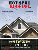 Roofing Services (Repair, Replace, Inspections, Chimney Detail)
