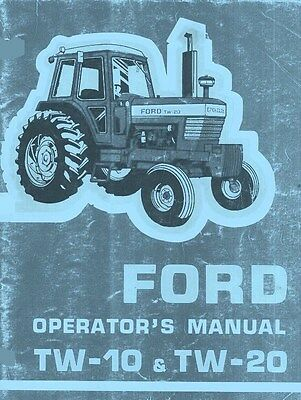 Ford Tw-10 Tw-20 Tw10 Tw20 Tractor Owner Operators Manual