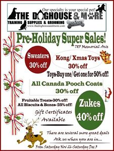 GIFT CERTIFICATES & PRE CHRISTMAS SALES