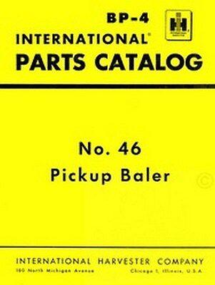 International Farmall 46 Pickup Baler Parts Manual Ih