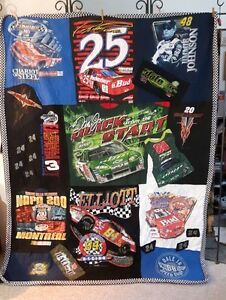 NASCAR QUILT Made by my sister Jan.