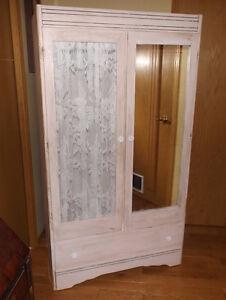 Pale pink antique wardrobe