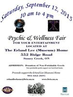Psychic and Wellness Fair at the Erland Lee (Museum) Home