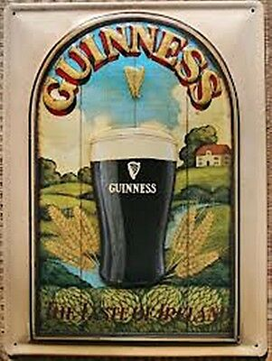 Guinness Taste of Ireland large embossed steel sign  400mm x 300mm (hi)