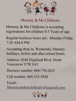 Mommy & Me Childcare service