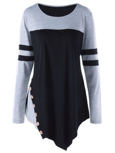 Fashion Women Ladies Casual Pullover Long Sleeve Loose Tops Tee