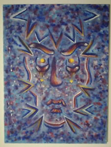 """""""Man with a Mask"""" Acrylic Painting on Canvas 60X90cm"""