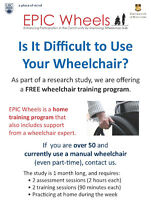 We are offering a FREE wheelchair training program