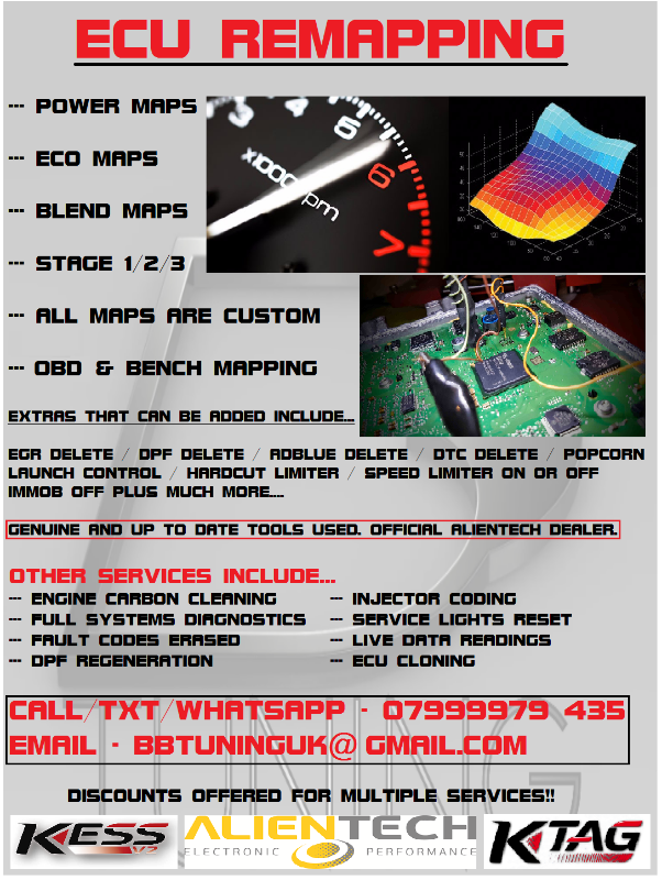 ECU to be used with remap service