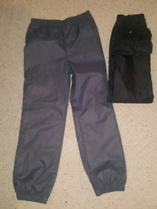 Two pairs Boys Youth Lined Splash Pants Size 10/12