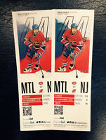 MONTREAL VS NEW JERSEY 28 NOVEMBRE 19H00 SECTION ROUGE