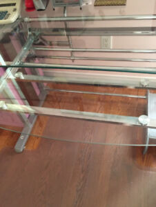 Big Glass office desk L shape/perfect condition